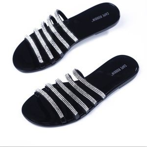 Kamaron Black Jelly Sandals